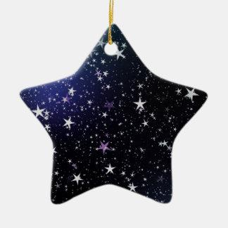Destino del amor de la paz del espacio del cielo adorno de cerámica en forma de estrella