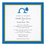 """Destino del boda de Bermudas Moongate Invitación 5.25"""" X 5.25"""""""