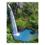 Destino del bosque del agua azul del parque de nat membrete