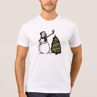 Destino del día de fiesta del navidad del invierno camisetas