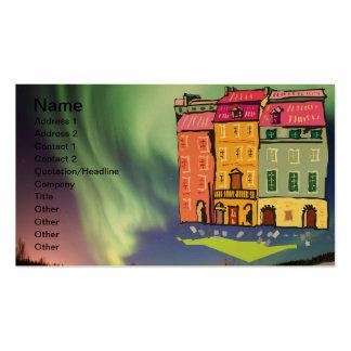 Destino del fiesta del amor de la paz del arte de tarjetas de visita