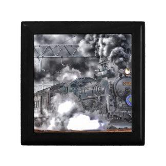Destino del motor de Steampunk del ferrocarril del Caja De Recuerdo
