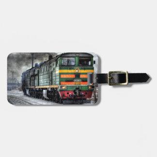 Destino del motor de Steampunk del ferrocarril del Etiquetas Para Equipaje