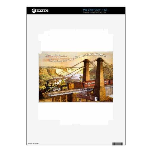 Destino del motor de Steampunk del ferrocarril del iPad 2 Calcomanía