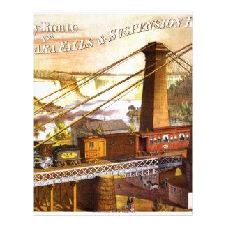 Destino del motor de Steampunk del ferrocarril del Membretes Personalizados