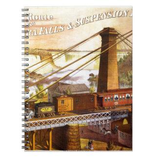 Destino del motor de Steampunk del ferrocarril del Note Book