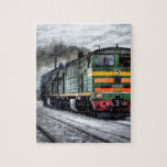 Destino del motor de Steampunk del ferrocarril del Puzzle