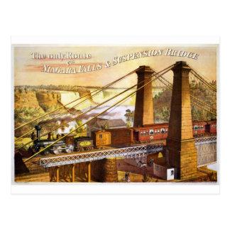 Destino del motor de Steampunk del ferrocarril del Tarjeta Postal