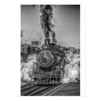 Destino del motor de Steampunk del ferrocarril del Tarjetas Postales