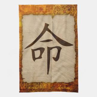 Destino del zen del kanji toallas