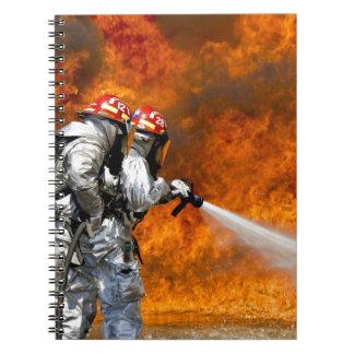 Destino Digital del rescate de la llama del fuego  Libreta Espiral