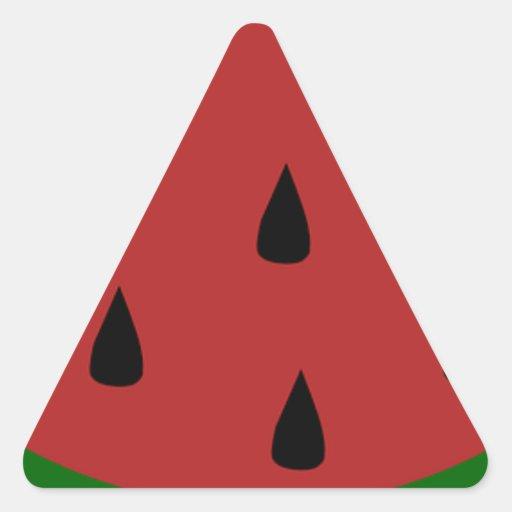 Destino dulce del postre de la sandía del Smoothie Pegatina Triangular