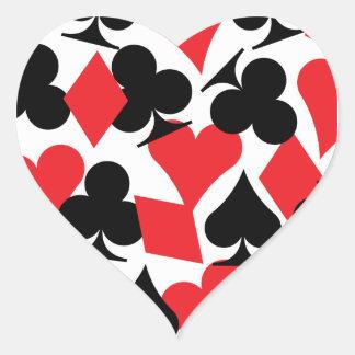 Destino Las Vegas que casa al pegatina del corazón