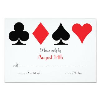 """Destino Las Vegas que casa la tarjeta de Invitación 3.5"""" X 5"""""""