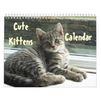 Destino lindo del amor de la paz del gato del calendario