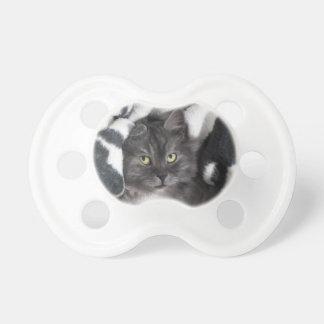 Destino lindo del amor de la paz del gato del gati chupete de bebé