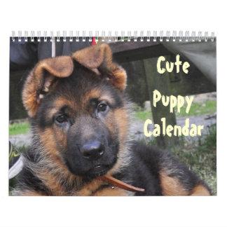 Destino lindo del amor de la paz del mascota del calendario de pared
