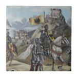 Destino medieval del fiesta del castillo de los le azulejo