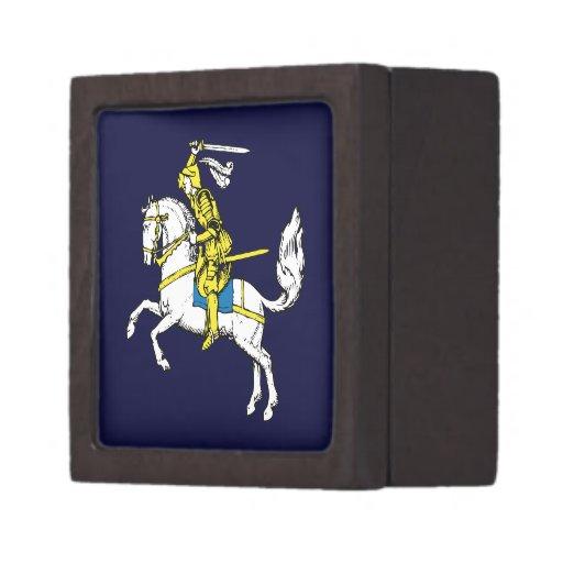 Destino medieval del fiesta del castillo de los le cajas de recuerdo de calidad