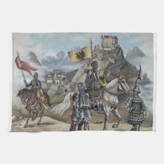 Destino medieval del fiesta del castillo de los le toallas de cocina