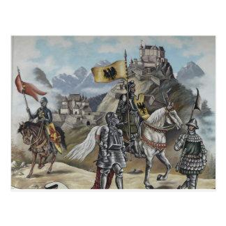 Destino medieval del fiesta del castillo de los postal