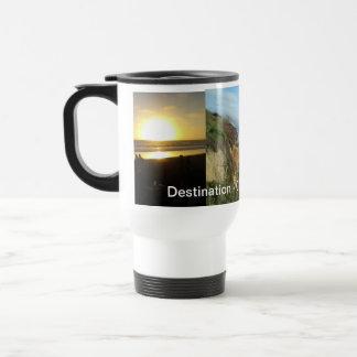 Destino - playas de California Taza Térmica