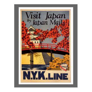 Destino Poster del viaje de Japón Tarjetas Postales