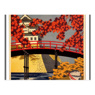Destino: Poster del viaje de Japón Postal
