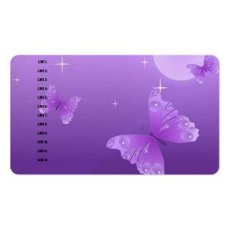 Destino púrpura del negocio de la oficina de tarjetas de visita