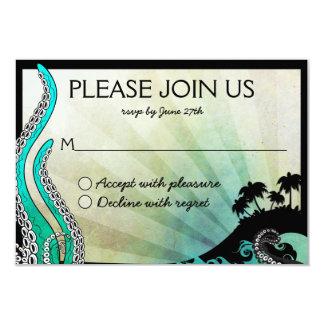 """Destino raro de la isla que casa la tarjeta de invitación 3.5"""" x 5"""""""