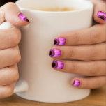 Destino rosado del amor de la paz de las flores de arte para uñas