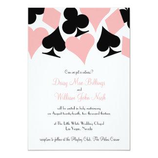Destino rosado y negro Las Vegas que casa la Invitacion Personal