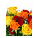 Destino subió flores de la naturaleza del amor de  tarjeta postal