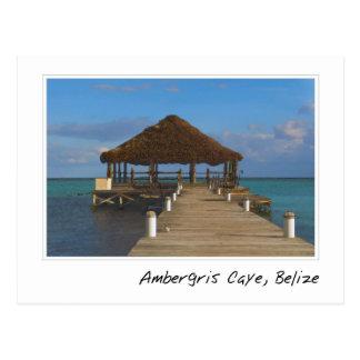 Destino tropical de Caye Belice del Ambergris Tarjeta Postal