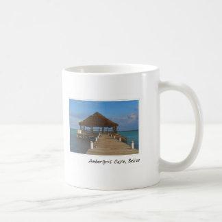Destino tropical de Caye Belice del Ambergris Taza De Café