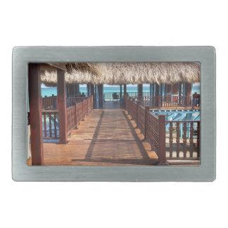 Destino tropical del sueño de la isla hebillas de cinturón rectangulares
