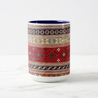 Destino turco del fiesta del arte del amor de la taza de café de dos colores