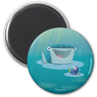 Destino y brotes de la burbuja del Dory el | Imán Redondo 5 Cm