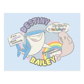 Destino y gráfico cómico de Bailey Postal