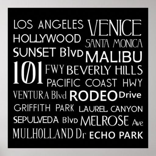 Destinos de California Poster
