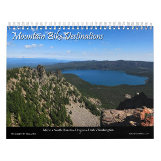 Destinos de la bici de montaña calendarios