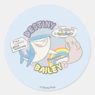 Destiny & Bailey Comic Graphic Classic Round Sticker