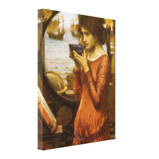 Destiny by JW Waterhouse, Vintage Victorian Art Stretched Canvas Print