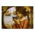 Destiny by JW Waterhouse, Vintage Victorian Art Cards