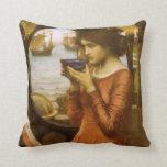 Destiny by JW Waterhouse, Vintage Victorian Art Throw Pillows