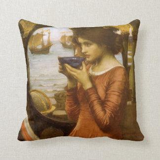 Destiny by JW Waterhouse, Vintage Victorian Art Throw Pillow