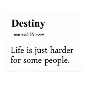 Destiny Definition Postcard