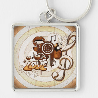 Destiny Gifts Silver-Colored Square Keychain