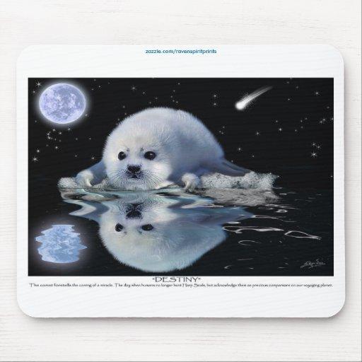 """Destiny"" Harp Seal Pup Wildlife Mousepad"