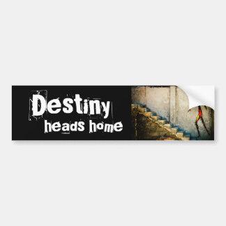 destiny heads home bumper sticker